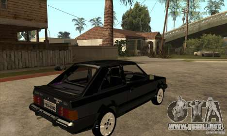 Ford Escort XR3 1986 para la visión correcta GTA San Andreas