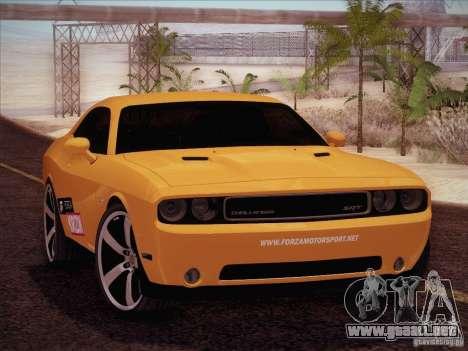 Dodge Challenger SRT8 2010 para visión interna GTA San Andreas