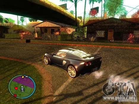 Lotus Exige - Stock para la visión correcta GTA San Andreas