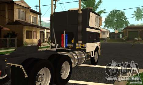 Peterbilt 362 Cabover para la visión correcta GTA San Andreas