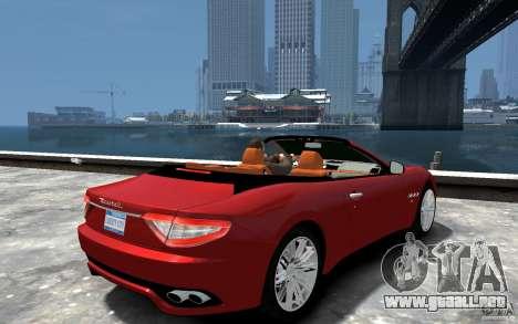 Maserati GranCabrio para GTA 4 visión correcta
