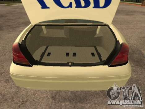 Ford Crown Victoria 2003 Police para visión interna GTA San Andreas