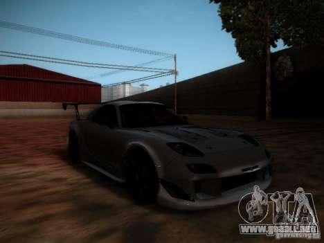 Mazda RX7 Drift para GTA San Andreas left