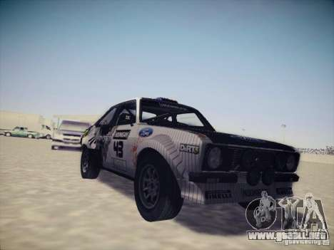 Ford Escort MK2 Gymkhana para GTA San Andreas left