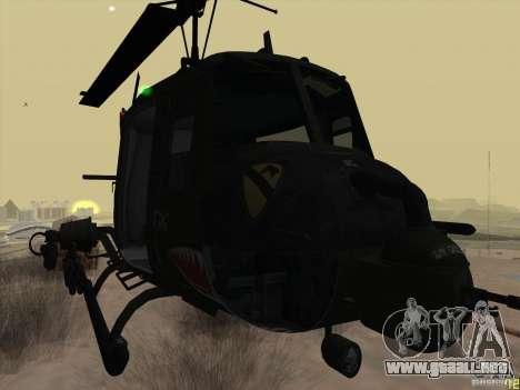 Helicóptero Huey de call of duty ops negro para la visión correcta GTA San Andreas