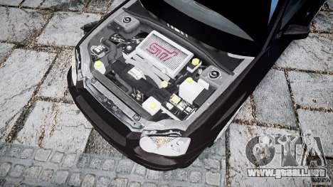 Subaru Impreza v2 para GTA 4 vista hacia atrás