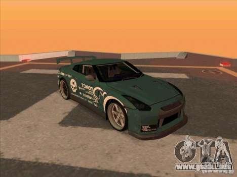Nissan GT-R R35 rEACT para GTA San Andreas