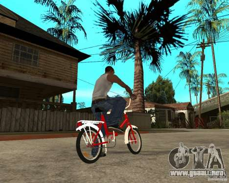 Tair GTA SA de la bici para GTA San Andreas vista posterior izquierda