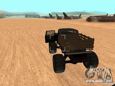 Walton Monster para GTA San Andreas vista posterior izquierda