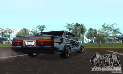 Toyota Cresta GX71 para GTA San Andreas vista posterior izquierda