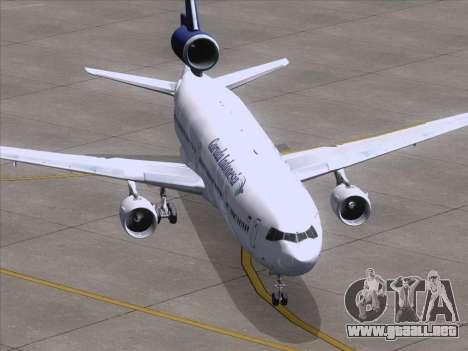 McDonnell Douglas MD-11 Garuda Indonesia para GTA San Andreas vista hacia atrás