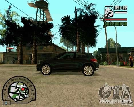 Volswagen Scirocco para la visión correcta GTA San Andreas