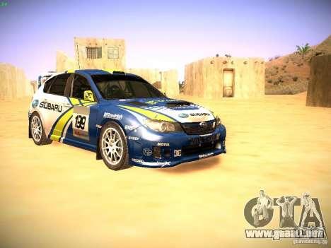 Subaru impreza Tarmac Rally para GTA San Andreas