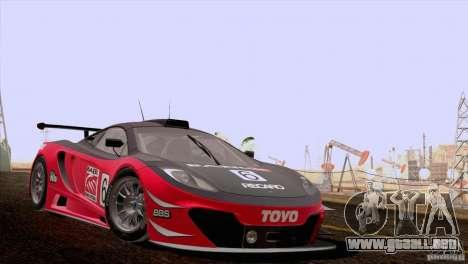 McLaren MP4-12C Speedhunters Edition para visión interna GTA San Andreas