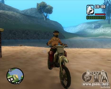 El piloto de combustible para GTA San Andreas sucesivamente de pantalla