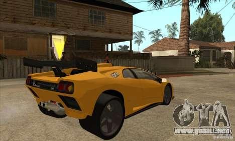 Lamborghini Diablo GT-R para la visión correcta GTA San Andreas