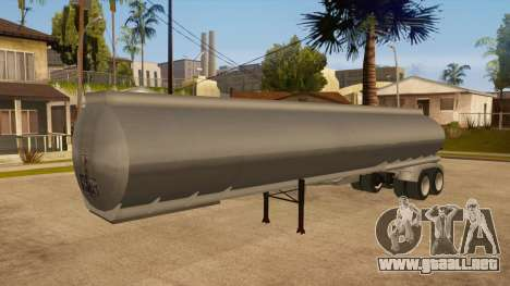 Tanque semi-remolque para vista lateral GTA San Andreas