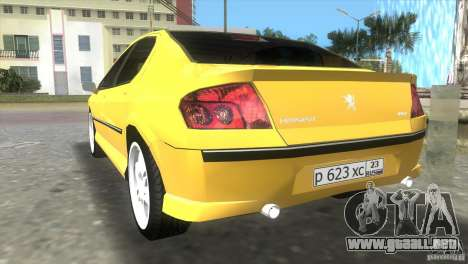 Peugeot 407 para GTA Vice City left