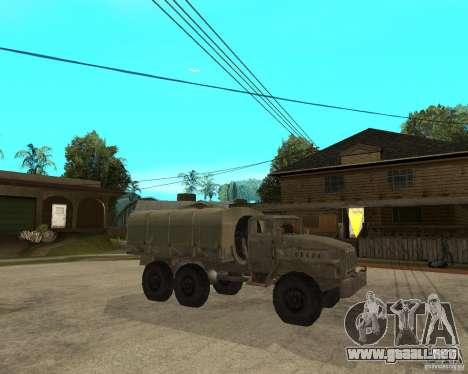 Ural-4230 para la visión correcta GTA San Andreas