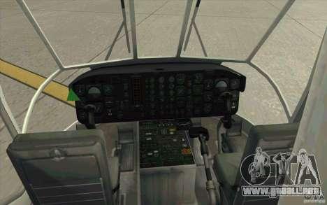 Sikorsky CH-54 Tarhe para la visión correcta GTA San Andreas