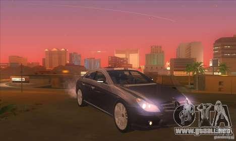 Mercedes-Benz CLS AMG para visión interna GTA San Andreas