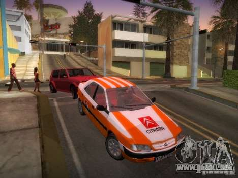 Citroën Xantia para vista inferior GTA San Andreas