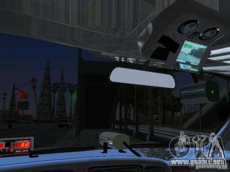 Chevrolet Suburban Los Angeles Police para visión interna GTA San Andreas