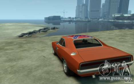 Dodge Charger General Lee v1.1 para GTA 4 Vista posterior izquierda