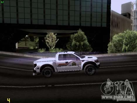 Ford Raptor Royal Canadian Mountain Police para vista lateral GTA San Andreas