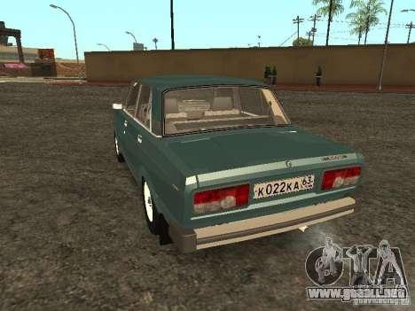 VAZ 2105 v. 2 para GTA San Andreas vista posterior izquierda