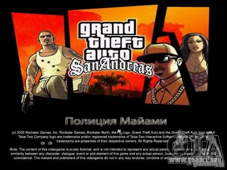 Nuevas pantallas de Miami + bonus para GTA San Andreas