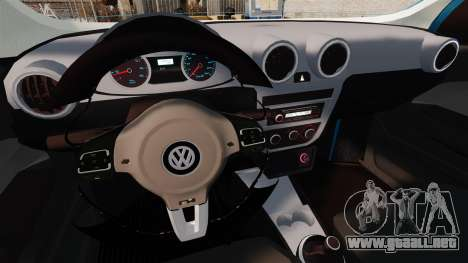 Volkswagen Voyage G6 2013 para GTA 4 vista interior