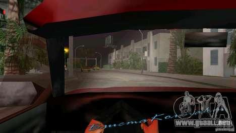 Vista desde la cabina para GTA Vice City sucesivamente de pantalla