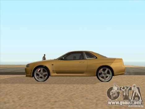 Nissan Skyline R34 VeilSide para GTA San Andreas left