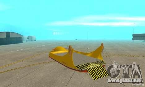 Plataforma aérea Air Carrier para la visión correcta GTA San Andreas