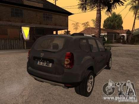 Dacia Duster para visión interna GTA San Andreas