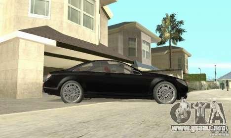 Mercedes-Benz CL500 para GTA San Andreas vista posterior izquierda