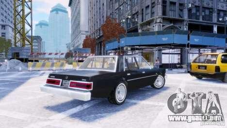 Dodge Diplomat 1983-85 para GTA 4 left