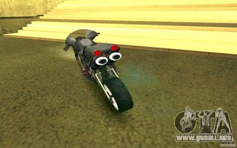Motocicleta de la ciudad de Alien para la visión correcta GTA San Andreas