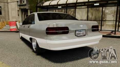 Chevrolet Caprice 1991 para GTA 4 Vista posterior izquierda