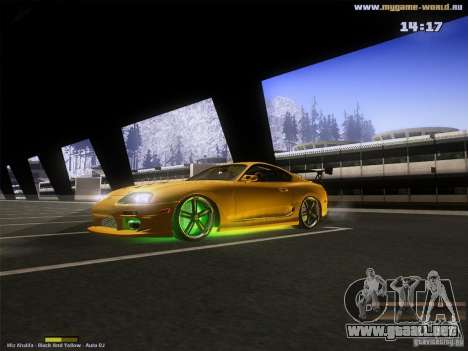 Toyota Supra v2 (MyGame Drift Team) para GTA San Andreas left