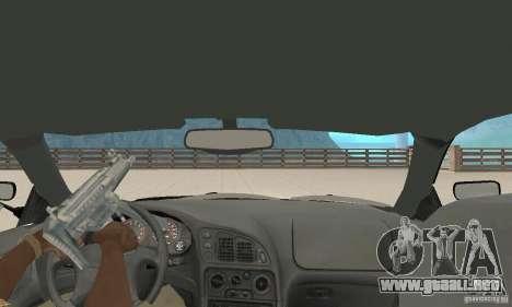 Mitsubishi Eclipse FnF para GTA San Andreas vista hacia atrás