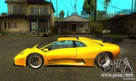 Lamborghini Diablo GT-R 1999 para GTA San Andreas left