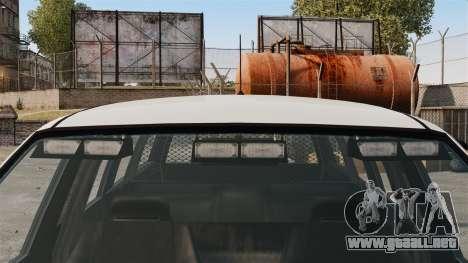 Policía Landstalker ELS para GTA 4 vista hacia atrás