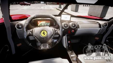 Ferrari FXX para GTA 4 vista interior