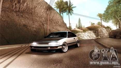 Honda CRX JDM para GTA San Andreas vista posterior izquierda