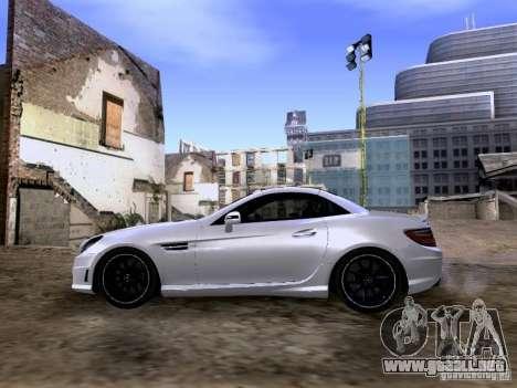 Mercedes-Benz SLK55 AMG 2012 para GTA San Andreas vista hacia atrás