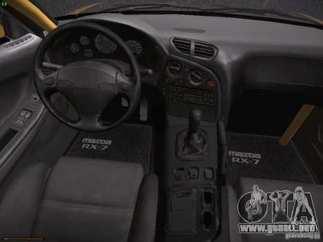 Mazda RX-7 FD3S C-West Custom para GTA San Andreas vista hacia atrás