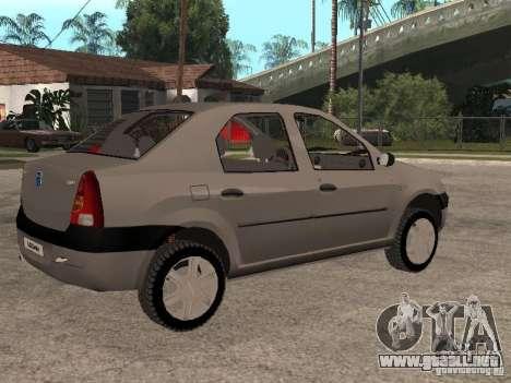 Dacia Logan 1.6 para visión interna GTA San Andreas