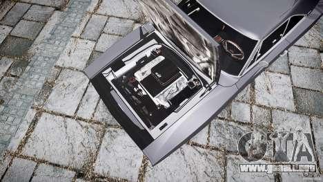 Dodge Charger RT 1969 para GTA 4 visión correcta